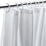 Satin Stripe Shower Curtains