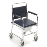 Mobile Commode With Locking Castors Height Adj.