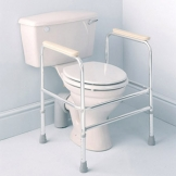 Aluminium Toilet Surround, Freestanding, Height Adj