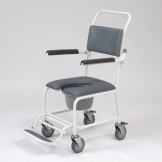 Shower Commode Chair With Footrest - Gap Front Seat