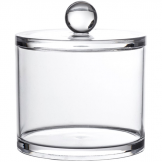 Clear Acrylic Serene Small Storage Jar