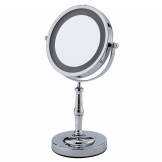 3 x Magnification Round Chrome Lamda Illuminated Vanity Mirror