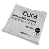 Cura Aprons Flat Pack - White - 10 X 100