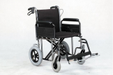 "Bariatric Transit wheelchair det.arms - 56cm (22"")"