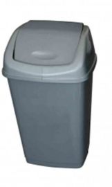 Grey Plastic Swing Top Bin - 25Ltr