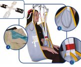 Aquila Lifting Sling with Padded Legs Medium - Clip Fixings