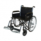 "Bariatric Wheelchair detachable arms swing away Footrests 56cm (22"")"