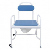 Bariatric adj ht stacking commode with det arms
