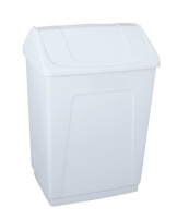 Extra Heavy Duty Swing Top Bin - White, 55lTR.