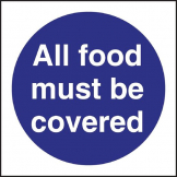 All Food Must Be Covered Sign X 2