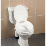 "4"" Raised Toilet Seat with Lid"