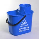 15Ltr Mop Bucket With Wringer - Blue