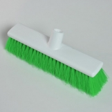 "12"" Hygiene Broom Head - Soft - Green"