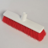 "12"" Hygiene Broom Head - Soft - Red"