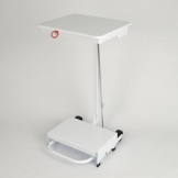 Free-Standing Sack Holder, 70 Ltr - Pedal Operated - White Lid
