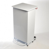 Enclosed Sack Holder, 70 Ltr - Pedal Operated - White Lid