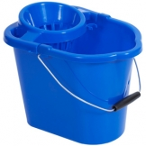 12Ltr Mop Bucket With Wringer - Blue