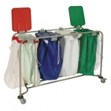 Medicart - 4 Bag - With White, Red, Blue And Green Lids