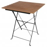 Bolero Square Faux Wood Bistro Folding Table 600mm