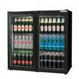 Autonumis Popular Double Hinged Door Maxi Back Bar Cooler Black A21089