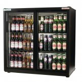 Autonumis EcoChill Double Sliding Door 3Ft Back Bar Cooler Black A215191