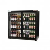 Autonumis EcoChill Double Sliding Door Maxi Back Bar Cooler, Black A210101