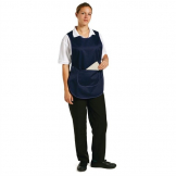 Whites Tabard With Pocket Navy Blue