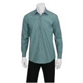 Chef Works Chambray Mens Long Sleeve Shirt Green Mist XS