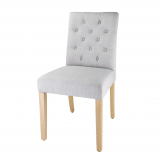 Bolero Chiswick Button Dining Chairs French Grey (Pack of 2)