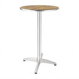 Bolero Ash Round Poseur Height Table 600mm