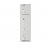 Elite Personal Effects Locker 4 Door Grey Padlock