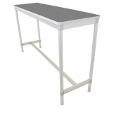 Gopak Enviro Indoor Storm Grey Rectangle Poseur Table 1200mm