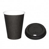 Special Offer  Fiesta Black 340ml Hot Cups and Black Lids