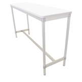 Gopak Enviro Indoor White Rectangle Poseur Table 1800mm