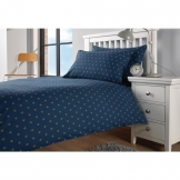 Essentials Perth Duvet Cover Navy Single (Polycotton)