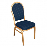 Bolero Arched Back Banquet Chairs Blue & Gold (Pack of 4)