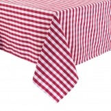 Gingham Tablecloth Red 1780 x 1780mm