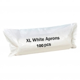 Care Supply Store Disposable White Aprons Extra Thick Xl Roll 100