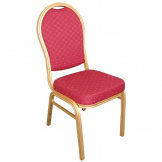 Bolero Arched Back Banquet Chairs Red & Gold (Pack of 4)