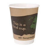 Fiesta Green Compostable Hot Cups Double Wall 355ml / 12oz x 500 (Pack of 500)