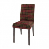 Bolero Dale Dining Chairs Claret Tartan (Pack of 2)