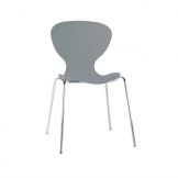 Bolero Grey Stacking Plastic Side Chairs (Pack of 4)