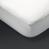 Essentials Spectrum Fitted Sheet White Double (144 TC, 50/50 Polycotton)