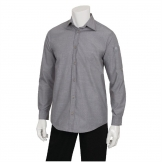 Chef Works Chambray Mens Long Sleeve Shirt Grey S