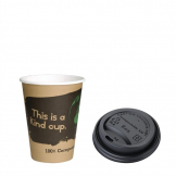 Special Offer Fiesta Green 8oz Compostable Hot Cups and Lids x 50