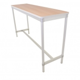 Gopak Enviro Indoor Beech Effect Rectangle Poseur Table 1800mm