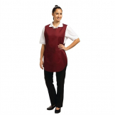 Whites Tabard With Pocket Burgundy Small