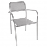 Bolero Aluminium Bistro Stacking Armchairs (Pack of 4)