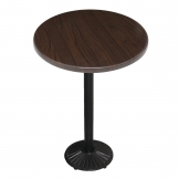 Special Offer Bolero 600mm Dark Wood Bar Table and Cast Iron Base Combo