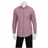 Chef Works Chambray Mens Long Sleeve Shirt Dusty Rose S